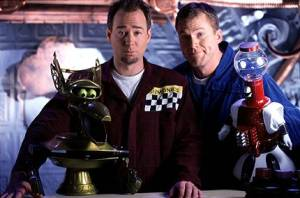 Joel Hodgson, Michael J. Nelson, Crow T. Robot and Tom Servo