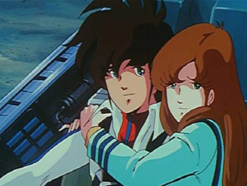 Rick and Lisa in Robotech