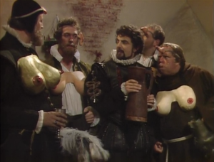 Rowan Atkinson in Blackadder II.