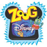 Zoog Disney logo. Yes, that IS a robot dog with a black eye.