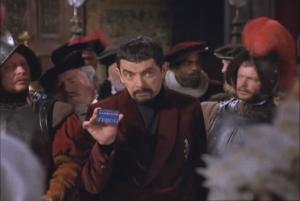Rowan Atkinson as Edmund Blackadder, Blackadder Back and Forth