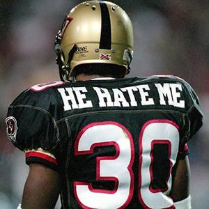 """HE HATE ME, XFL """"star."""""""