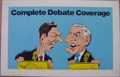 Cartoon Reagan and Mondale