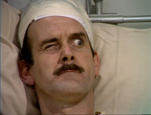 "John Cleese as Basil Fawlty in Fawlty Towers, ""The Germans"""