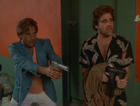 "Don Johnson and Glenn Frey in Miami Vice, ""Smuggler's Blues"""
