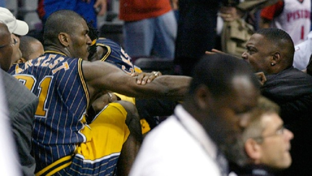 Ron Artest during the Malice in the Palace.