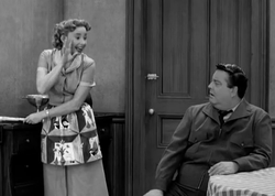 Alice and Ralph in The Honeymooners