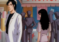 Takashi receives a death glare from Mariko