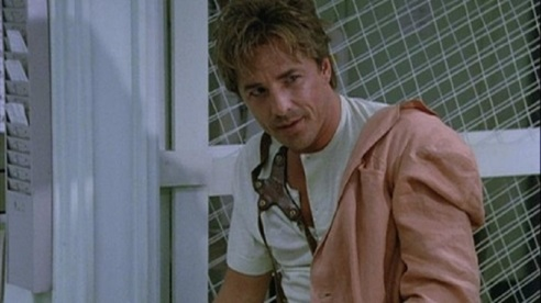 "Don Johnson as Sonny Crockett in Miami Vice, ""The Home Invaders"""