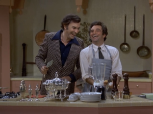 "Martin Landau as Dexter Paris and Peter Falk as Lt. Columbo, Columbo, ""Double Shock"""