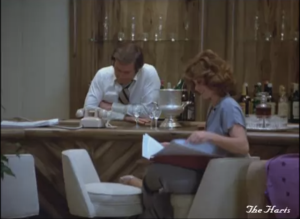"""Robert Wagner and Stefanie Powers as Jonathan and Jennifer Hart, Hart to Hart, """"Too Many Cooks Are Murder"""""""
