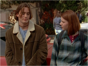 Jared Leto as Jordan Catalano and Claire Danes as Angela Chase in My So-Called Life