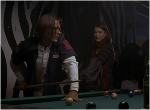 Jared Leto as Jordan Catalano and Claire Danes as Angela Chase in My So-Called Life.