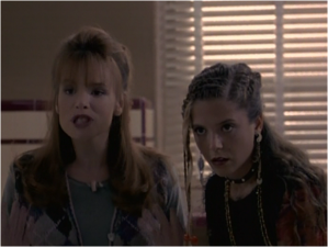 Devon Odessa as Sharon Cherski and A.J. Langer as Rayanne Graf in My So-Called Life