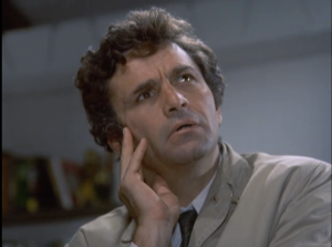 "Peter Falk as Lt. Columbo, Columbo, ""Double Shock"""