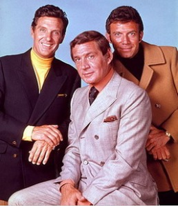 Anthony Franciosa, Robert Stack, and Gene Barry in The Name of the Game