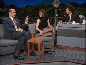 Jeffrey Tambor as Hank Kingsley, Mimi Rogers as herself, Garry Shandling as Larry Sanders, The Larry Sanders Show