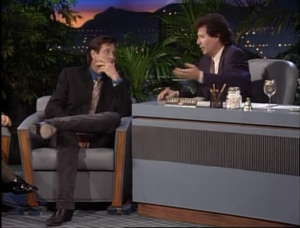 Garry Shandling as Larry Sanders and Robert Hays, The Larry Sanders Show.