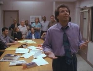 Jeffrey Tambor as Hank Kingsley, Mimi Rogers as herself, Garry Shandling as Larry Sanders, The Larry Sanders Show