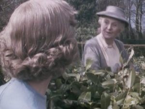 "Joan Hickson as Miss Marple, Miss Marple, ""Murder at the Vicarage"""
