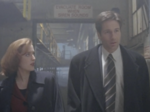 Gillian Anderson as Dana Scully and David Duchovny as Fox Mulder, The X-Files, Grotesque