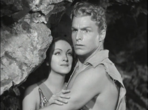 "Buster Crabbe as Flash Gordon and Priscilla Lawson as Princess Aura, Flash Gordon, ""Tunnel of Terror"""