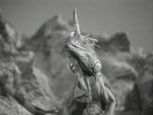 """Iguana as Space Dragon, Flash Gordon, """"Planet of Peril"""""""