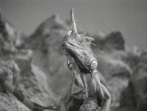 "Iguana as Space Dragon, Flash Gordon, ""Planet of Peril"""
