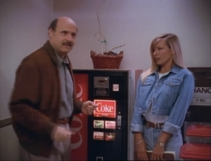 Linda Doucett as Darlene and Jeffrey Tambor as Hank Kingsley, The Larry Sanders Show