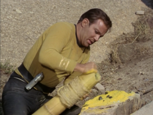 "William Shatner as Captain James T. Kirk, Star Trek, ""Arena"""