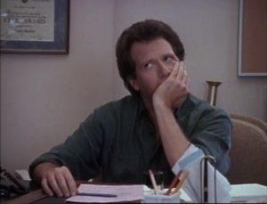 "Garry Shandling as Larry Sanders, The Larry Sanders Show, ""Hank's Contract"""