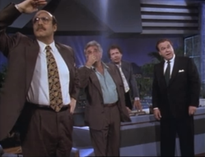 "Jeffrey Tambor, Peter Falk, Garry Shandling and Rip Torn, The Larry Sanders Show, ""Out of the Loop"""