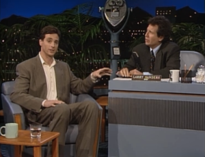 Bob Saget as himself and Garry Shanding as Larry Sanders, The Larry Sanders Show