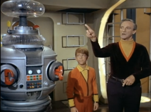 Billy Mumy as Will Robinson, Jonathan Harris as Dr. Smith, Lost In Space
