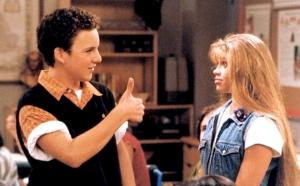 Cory offers Topanga a thumbs up on Boy Meets World