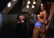 Kesselman has Wonder Woman strapped to an interrogation table