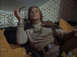 "Dirk Benedict as Starbuck, Battlestar Galactica, ""The Long Patrol"""