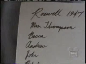 "Back of picture of Andrew's family. ""Roswell"""