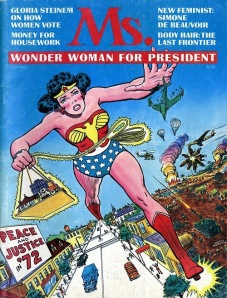 Ms. cover featuring Wonder Woman