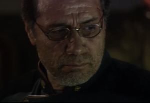 "Edward James Olmos as Commander William Adama, Battlestar Galactica, ""33"""