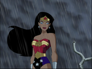 Wonder Woman in a storm