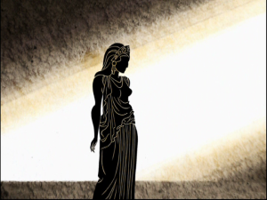 Hippolyta as a Greek drawing
