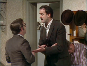 "John Cleese as Basil Fawlty, Fawlty Towers, ""The Kipper And The Corpse"""