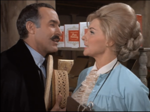 "Ricardo Montalban as Rafael Delgado and Nancy Kovack as Victoria Pogue, The Man From U.N.C.L.E., ""The King of Diamonds Affair"""