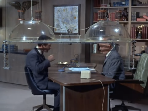 """Don Adams as Maxwell Smart and Edward Platt as the Chief, Get Smart, """"Too Many Chiefs"""""""