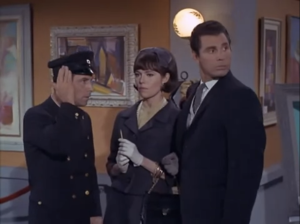 "bara Feldon as Agent 99 and Michael Dante as Rex Savage, Get Smart, ""Kisses for KAOS"""
