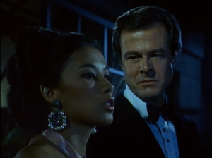 "France Nuyen as Sam and Robert Culp as Kelly Robinson, I Spy, ""Magic Mirror"""