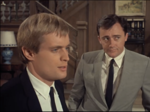 "David McCallum as Illya Kuryakin and Robert Vaughn as Napoleon Solo, The Man From U.N.C.L.E., ""The King of Diamonds Affair"""