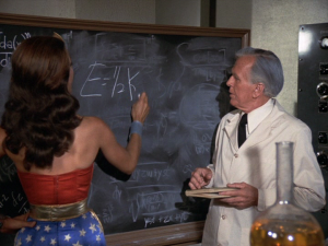 Wonder Woman does some complex equations