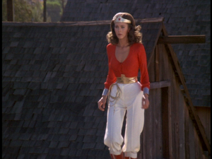 Wonder Woman in her Western outfit